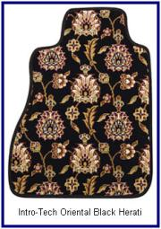 Intro-Tech Oriental Black Herati Theme Car and Truck Floor Mats. Give that Far East feeling to your car.