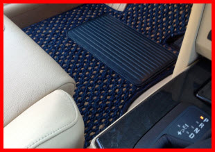 Natural Auto Products CocoMats in a BMW. The mat hides dirt, protects the carpeting and adds charm and class to the vehicle.