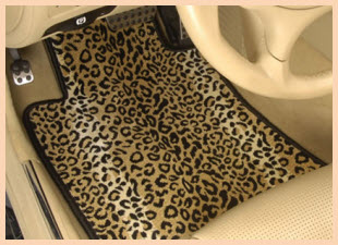 Designer Mat International makes the Jungle Themed Safari Auto Mat in both Tiger and Leopard patterns.
