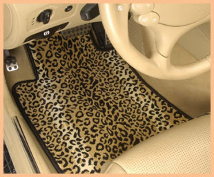 Designer Mat International Safari AutoMat in Leopard Design.