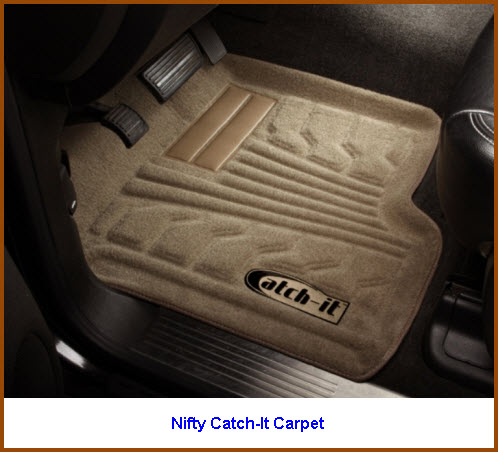 Nifty Catch-It Carpeted Car Floor Mat is a luxurious way to protect your car, truck or SUV.