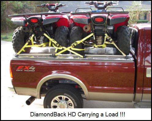 DiamondBack Aluminum Truck Bed Cover Holds up to 1600 lbs