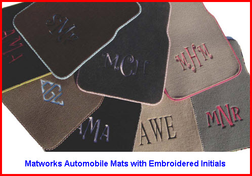 Matworks Automobile Mats with Embroidered Initials