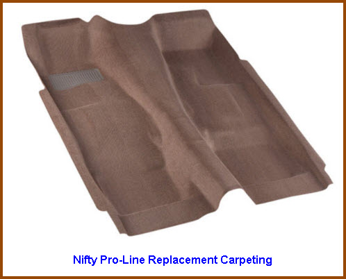 Nifty Pro-Line Replacement Carpeting for cars, pickups, SUV, vans