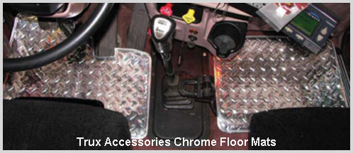 Big Rig Chrome Truck Floor Mats from Trux Accessories