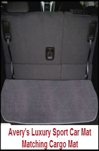 Avery's Luxury Sport Car Mats can be matched up with the optional Luxury Sport Cargo Mat.