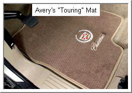 Averys Touring Car Mat with nylon mesh cloth tape edging.