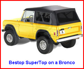 Bestop SuperTop Truck Topper on a Ford Bronco