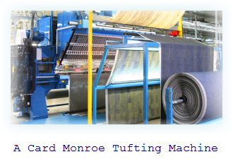 Card Monroe Tufting Machine. A carpet tufter to make car carpeting and mats.