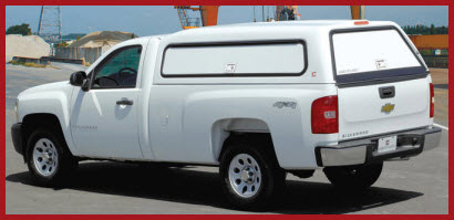 Century Hi-C Fiberglass Truck Cap is a mid-rise cab design with an additional 3 to 4 inches of height above the cab.