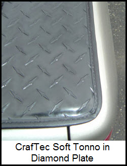 CrafTec Diamond Plate Finished Tonneau Cover