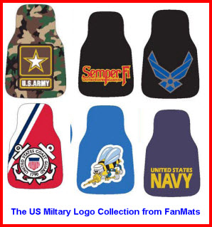 FanMats Logo Mats - USMC, Army, Navy, Air Force, SeaBees, Coast Guard