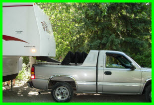 Fastkap Truck Canopies in Retracted Position may used in 5th Wheel configuration