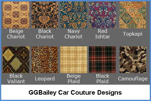 GGBailey Car Mats Car Couture Designs