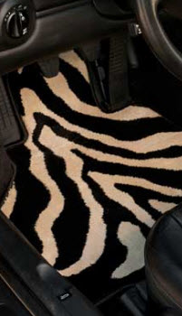 G.G. Bailey Zebra Design Car Mat