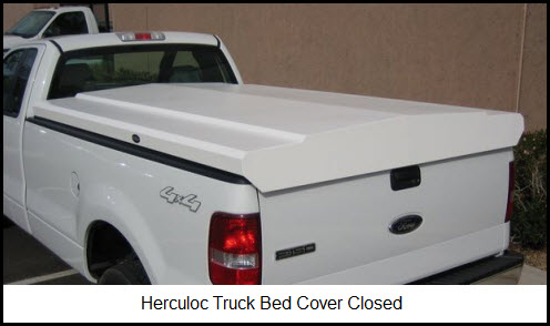 Herculoc Tonneau Cover by Thacker Manufacturing in closed position.