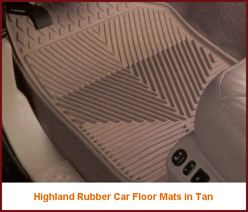 Highland Car Mats Rubber Semi Custom Fit