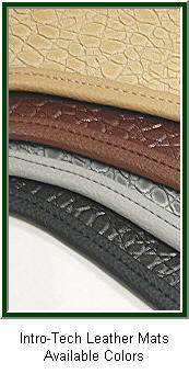 IntroTech Leather Car Floor Mat. Real Leather Luxury!