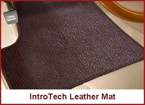 Intro-Tech Real Leather Mat Smells Good and is custom fit for your car.