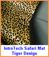 Intro-Tech Safari Car Floor Mat Tiger Design