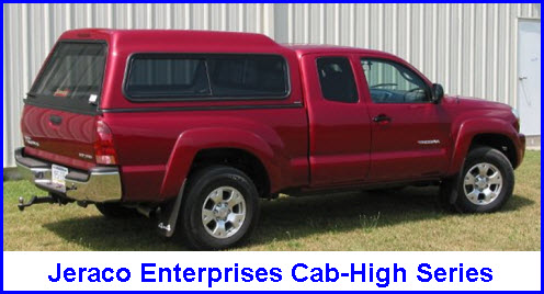 Jeraco Enterprises Cab-High Series Fiberglass Truck Cap