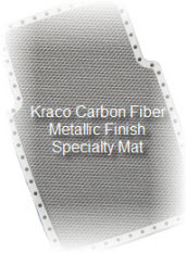 Kraco Carbon Fiber Metallic car mat is a high tech way to protect your cars carpeting.