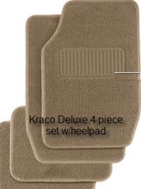 Kraco Deluxe carpeted car floor mat with a heelpad. A pretty luxurious, yet inexpensive way to protect and beautify your car.