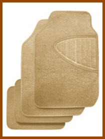 Kraco Eco Essentials Tan Carpeted Car Mats are made from Recycled Materials