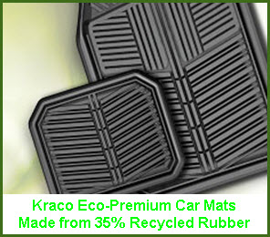 Kraco Eco Essentials Line of Car FZloor Mats includes this model the Eco Premium made from 35% recycled rubber.