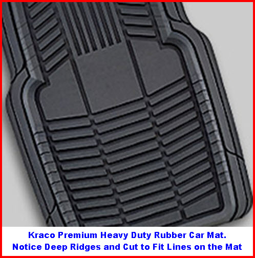 Premium Kraco Auto Mats made of high quality rubber. These are reasonably priced heavy duty rubber car floor mats.