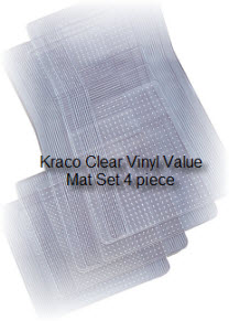 Kraco Clear Vinyl car floor mat protects your car or trucks carpet while still allowing the color and beauty of the carpeting to be seen.