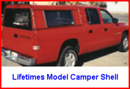 Lifetime Camper Shells Lifetimes Model Aluminum Truck Cap or Camper Shell