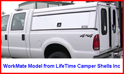 Lifetime Camper Shells Inc Workmate Model Aluminum Truck Cap