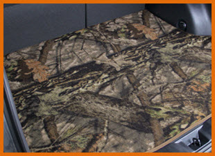 Lloyd Mats CamoMats with Mossy Oak Design. Custom carpeted camo mats to perfectly fit your vehicle.