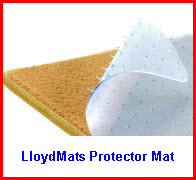 LloydMats Auto Mats Protector Model Clear Vinyl Auto Mat goes right on top of your existing carpeted car floor mat to protect it!