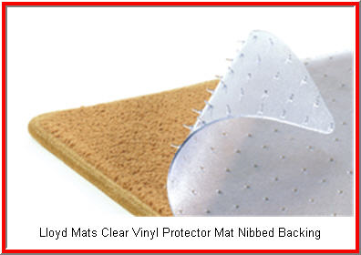Lloyd Mats Protector Clear Vinyl Automobile Mats with Nibbed Backing to Prevent Slipping.