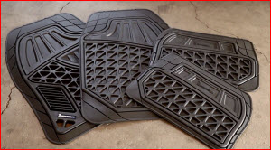 Michelin Heavy Duty Car Mats for Your Car, Pickup or SUV. Rubber look and feel. Semi custom fit.