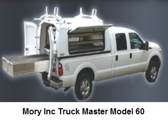Master Truck Bed Series Model 60 is a universal fit, self contained truck cap for use in many applications.