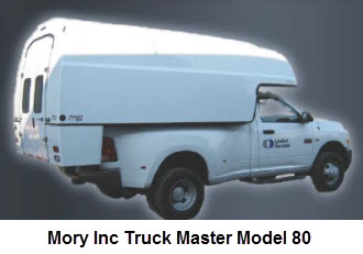 Master Truck Bed Series Model 80 is a universal fit, self contained truck cap for use in many applications.
