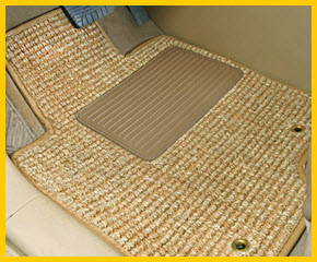 Natural Auto Products Sea Grass Car Floor Mats are really made from woven and knotted sea grass!