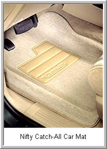 Nifty Catch All Car Floor Mat fits the shape of your car or trucks floor pan just right. This gives you maximum protection from water, dirt, mud and other messy problems.