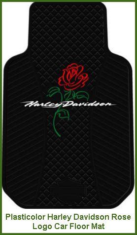 Plasticolor Harley Davidson Rose Logo Car Floor Mat