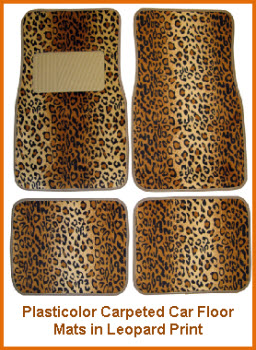 Plasticolor Leopard Logo Carpeted Car Floor mat