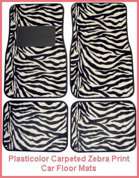 Plasticolor Zebra Logo Carpeted Car Floor Mat