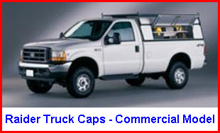 Raider Truck Caps Commercial Model Aluminum Truck Top