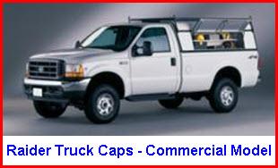 Raider Truck Caps Commercial Model Aluminum Truck Top