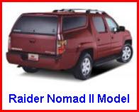 Raider Truck Caps Nomad II Model Fiberglass Truck Topper