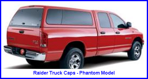 Raider Truck Caps Phantom Model Fiberglass Truck Cap