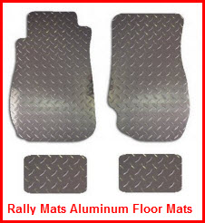 Rally Mats Diamond Plate Aluminum Car and Truck Floor Mats