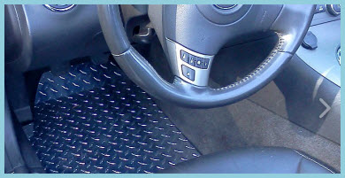 Rally Mats Diamond Plate Aluminum Car Floor Mat is an exotic upgrade for your vehicle.